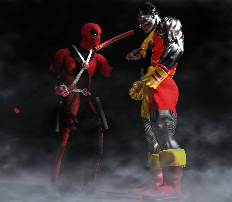 Deadpool and Colossus by hiram67