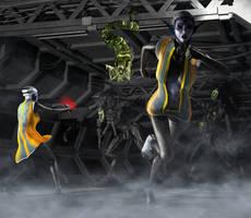 Alien assault by hiram67