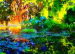 Il laghetto nel giardino