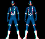 Black Bolt anaglyph and Cross-eye 3d immage