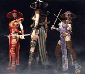 Warrior geishas