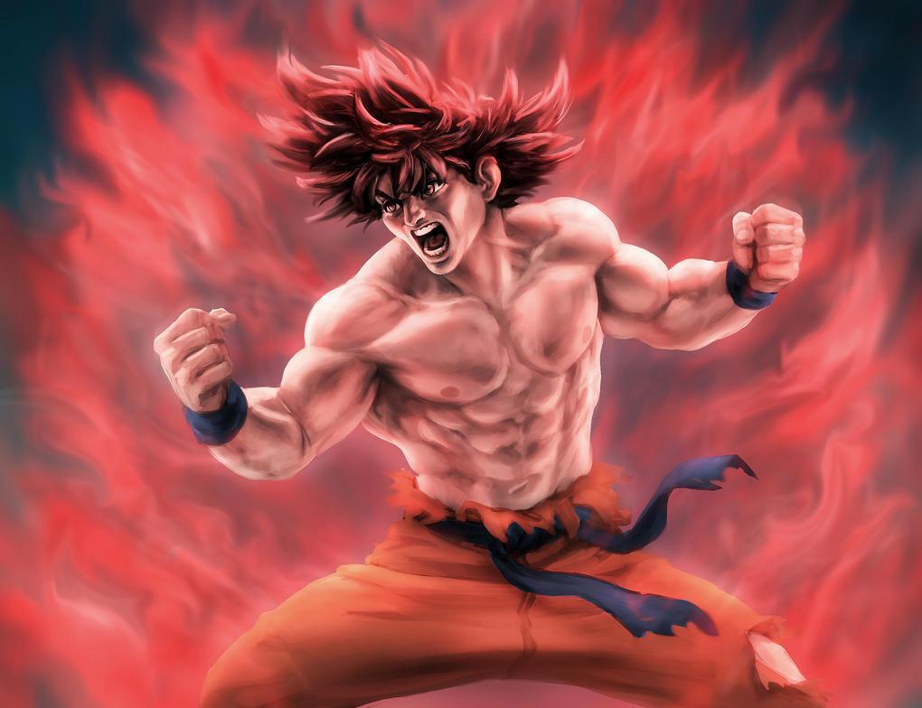 Goku Kaio-ken by Otto-Metzger