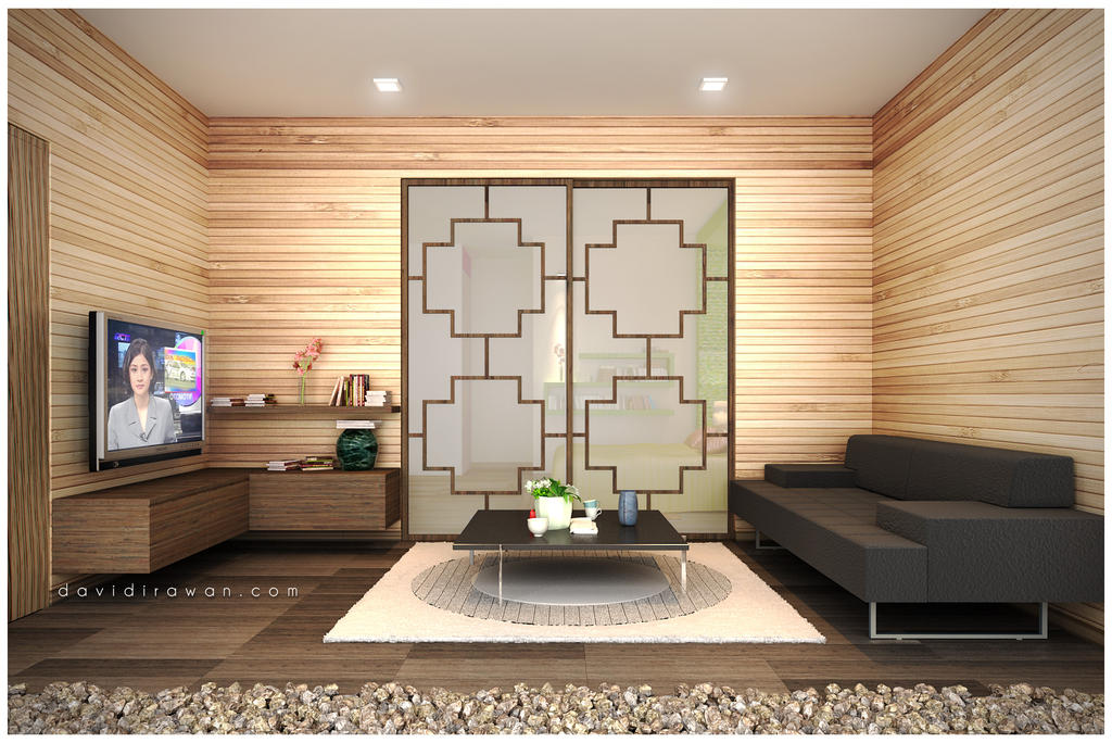 Zen living room by davidplato on deviantart for Zen style living room design