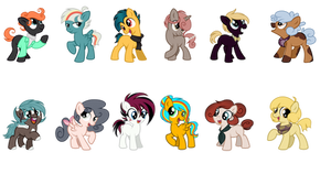 (OPEN - REDUCED) Palette Pony Adopts (2/12)