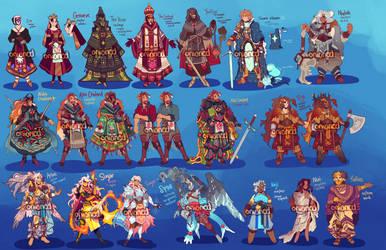 Summer/Fall character designs