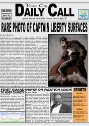 Vance City Daily Call mock newspaper by UrsaMagnus