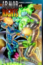 Armor Rights #1 cover -- Primus vs. Warhead