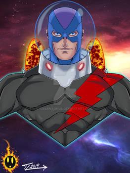 Captain Flash Future bust by Tavis Cardenas