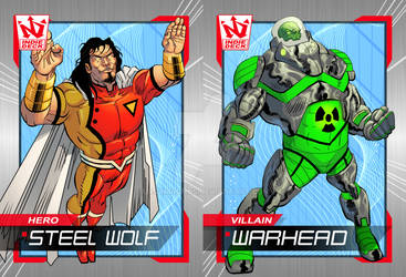 Steel Wolf and Warhead Indie Deck Cards