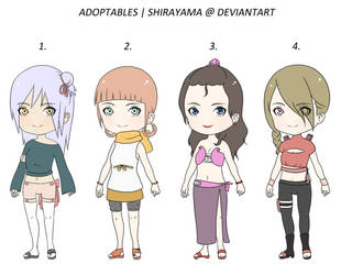 Naruto OC adoptables #19 (OPEN) (0-4) by shirayama