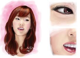 digital painting snsd taeyeon by landycakep