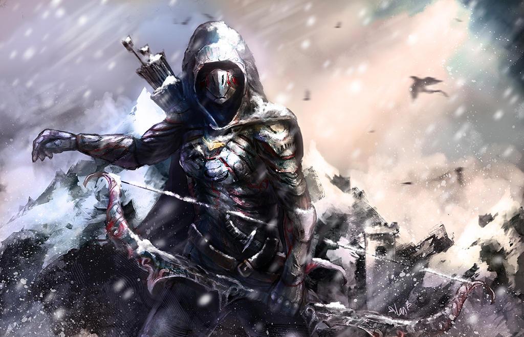 archer skyrim by landycakep