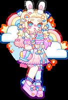 rainbow milkshake | commission