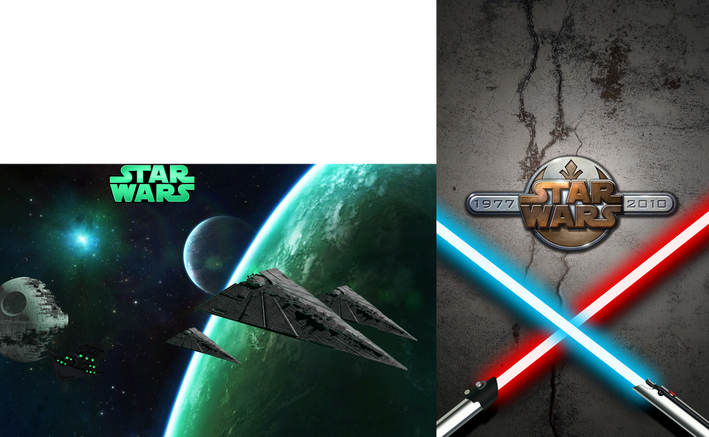 Star Wars Dual Screen Wallpaper 3200x1920 By Elnum On Deviantart