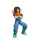 HDBZ styled Android 17 - Portrait by likiji123