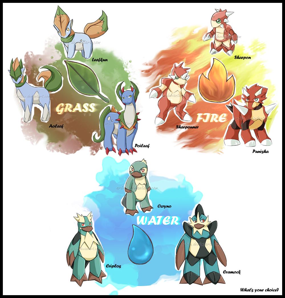All Starter Pokemon