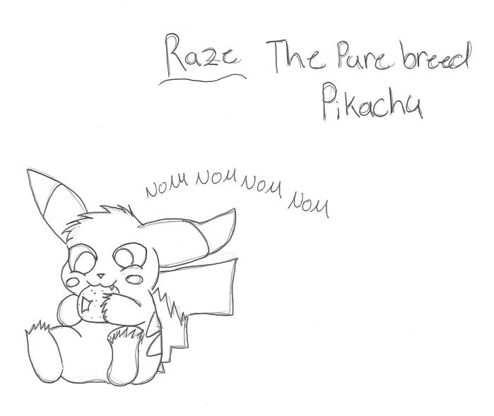 Raze The PureBreed Pikachu by wasfight17