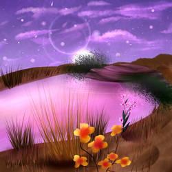 Commission- Desert Oasis by Lunarlyra