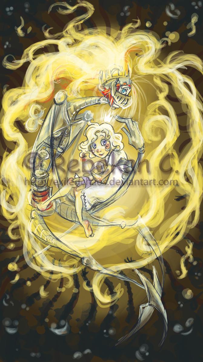 Dreampunk: Sun Tarot Rough by ExiledChaos