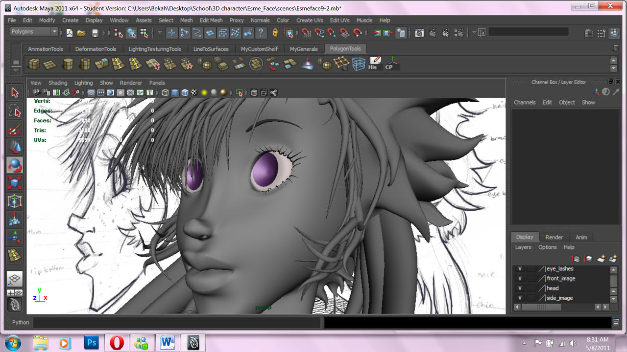 Another 3D WIP... so close U_U by ExiledChaos