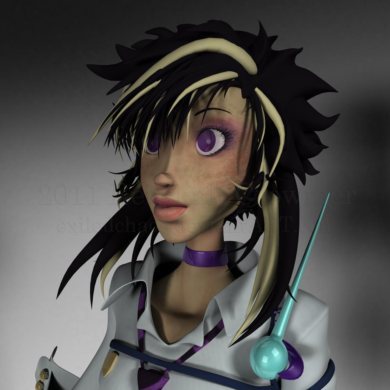Esmeralda: 3D model Render 2 by ExiledChaos