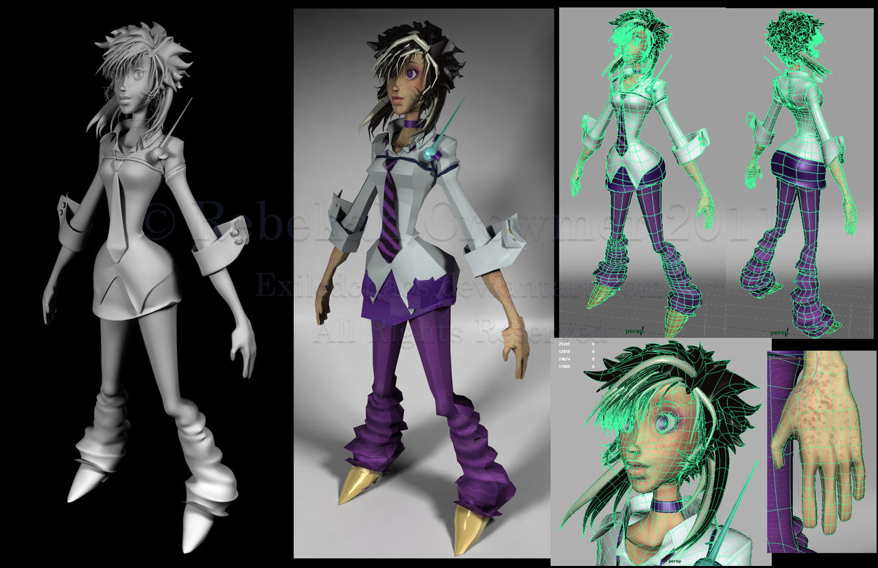 Esme3D: Clay-Lowpoly-Wireframe by ExiledChaos