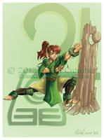 Sailor Avatar: Earthbender Makoto by ExiledChaos