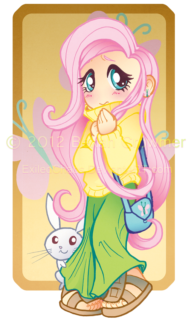 My Little Pony : Chibi Human Fluttershy by ExiledChaos