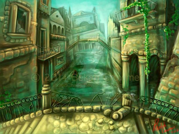 Environment - Venice Ruins - Practice by ExiledChaos