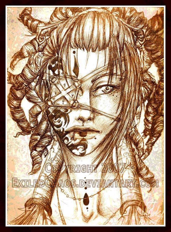 .:Ohraha Sketch:. by ExiledChaos
