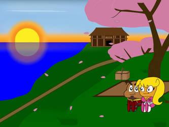 Gaijin and Akiterra having a picnic by IxiusDarks