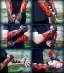Deathwing Bracers Display by WolfDrakeStudio