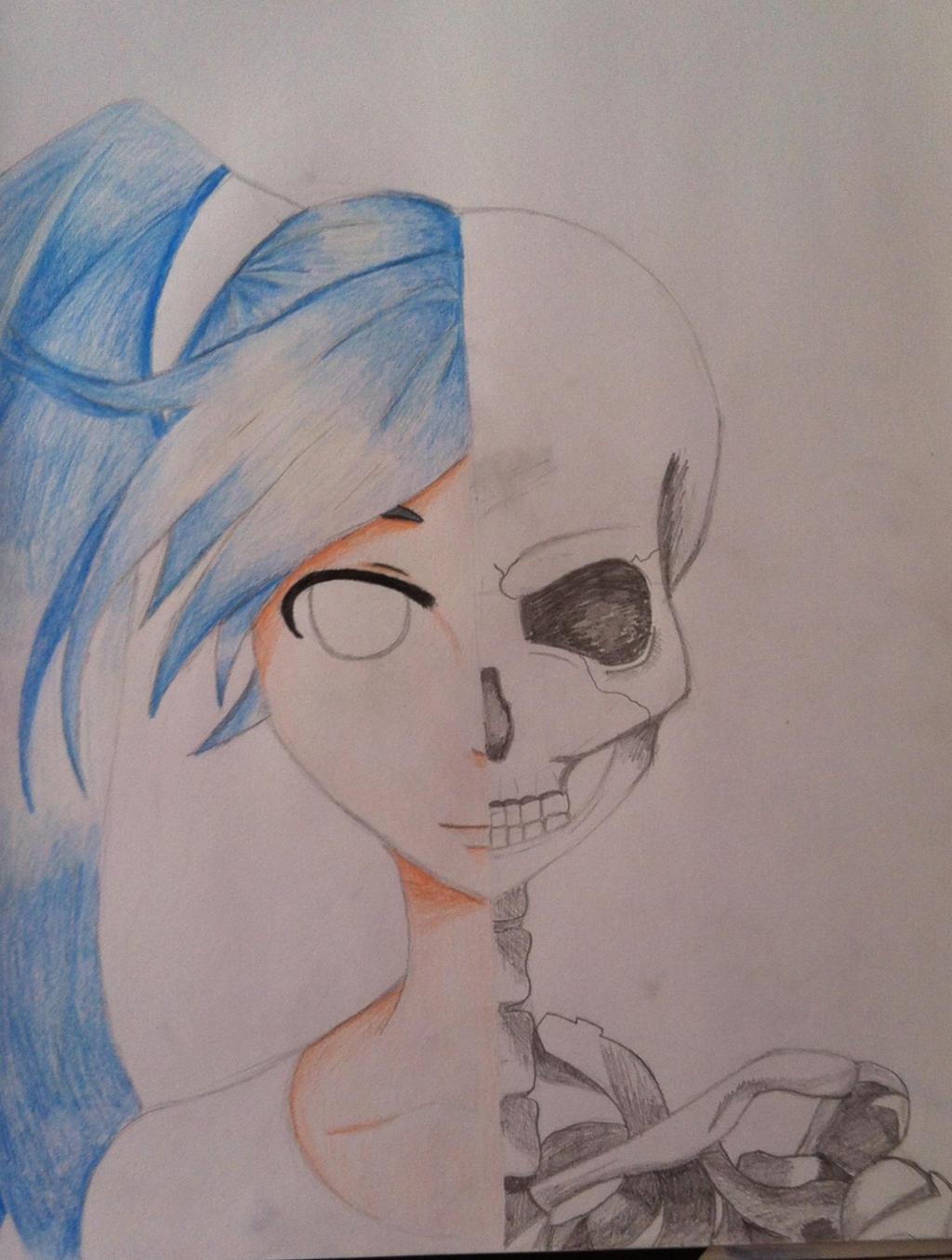 Anime Skeleton Girl By Skampeh On DeviantArt