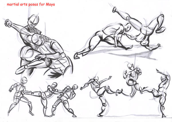 fighting poses for maya08 by AlexBaxtheDarkSide on DeviantArt