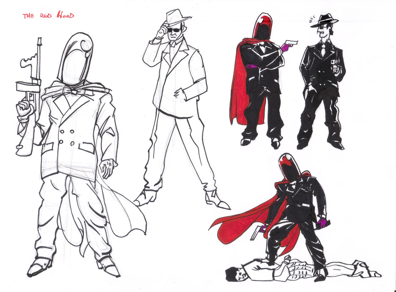 Red Hood Drawings_02 by AlexBaxtheDarkSide