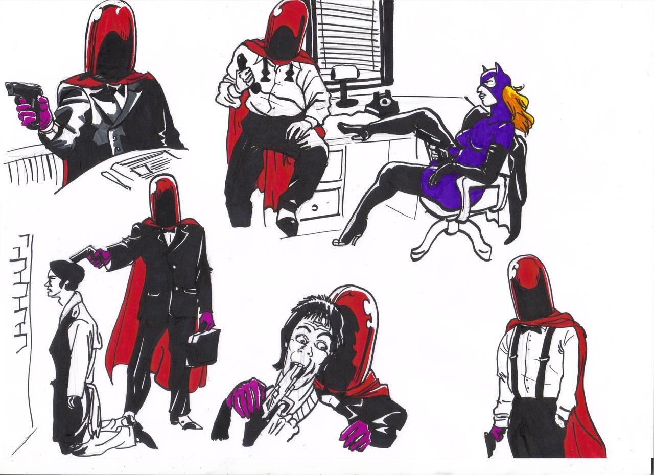 Red Hood Drawings_03 by AlexBaxtheDarkSide