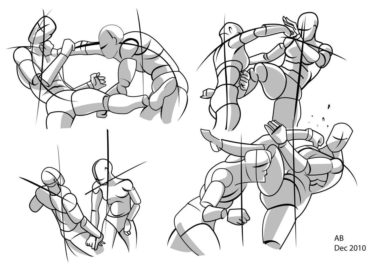 Anime Fighting Pose Drawing | Hot Girl HD Wallpaper
