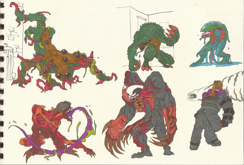 resident evil 123 monsters 02 by alexbaxthedarkside on