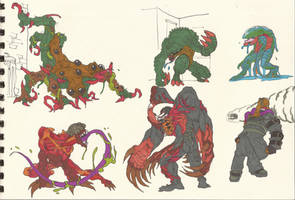 resident Evil 1_2_3 monsters 02 by AlexBaxtheDarkSide