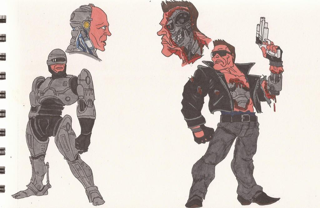 RoboCop VS The Terminator_01_July2012 by AlexBaxtheDarkSide