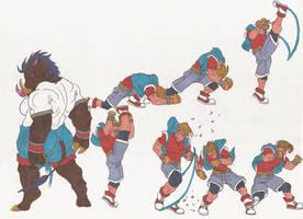Bloody Roar doodles 22nov2012.jpg by AlexBaxtheDarkSide