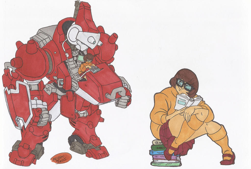 Scooby-doo X cyberbots_Doodles_01Feb2015 by AlexBaxtheDarkSide
