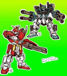 Gundam HeavyArms Kai and Custom_Doodles_Dec20_01