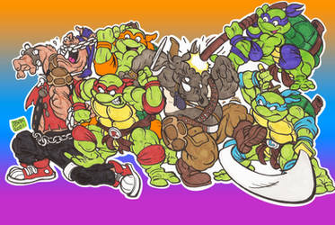 TMNT vs Beebop and Rocksteady Doodle 01 Dec2020