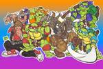 TMNT vs Beebop and Rocksteady Doodle 01 Dec2020 by AlexBaxtheDarkSide