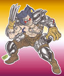 Xmen_Albert (Wolverine robot) Doodles_01_Sep2021 by AlexBaxtheDarkSide