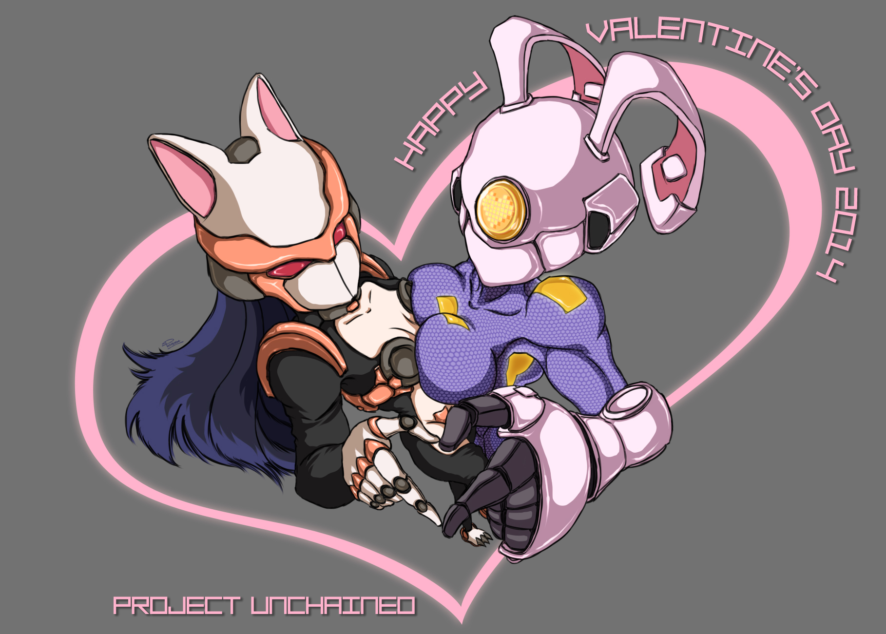 Cyber Love - Valentine's 2014 by Project Unchained by pommegenozide