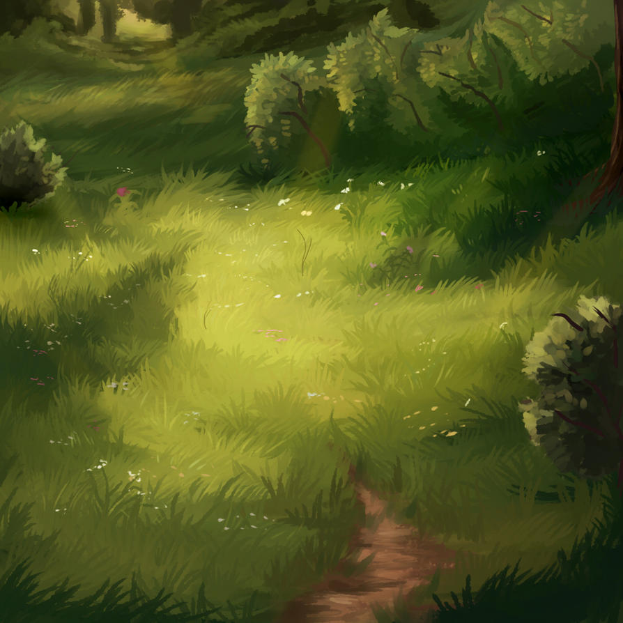 the sunny meadow by KamoFalcon