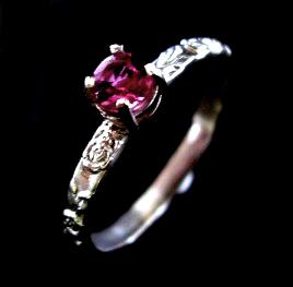 SS pink tourmaline ring by MeikoElektra