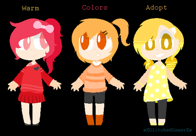 .~ Warm Color Adopts [CLOSED] ~. by xXGlitchedGamerXx